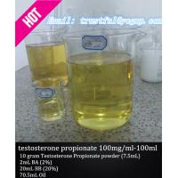 Wholesale Injectable Testosterone Steroids Testosterone propionate 100mg / ml for bodybuilder from china suppliers