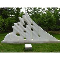Wholesale White marble sculptures of Morden city for park from china suppliers