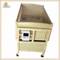 Wholesale Custom Portable Wooden Baby Cribs With Changing Table Mp3 Music Player from china suppliers