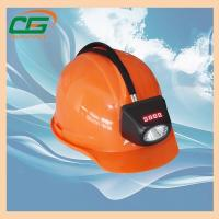 Buy cheap Msha Approved 4.5ah Rechargeable Mining Hard Hat LED Lights , Waterproof Cordless Miners Cap Lamp from wholesalers