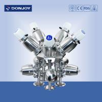 Wholesale SS sanitary Multiport pneumatic diaphragm valve with C - TOP for pharmaceutical industry from china suppliers