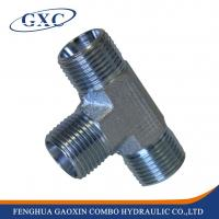 Buy cheap AC/AD Carbon Steel hydraulic metric male equal Tee adapter Fitting from wholesalers