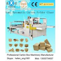 Quality Corrugated Cardboard Production Line Corrugated Paperboard Folding / Gluing 4KW for sale