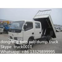 Wholesale best price Dongfeng Twin cab RHD mini 3ton dump truck for sale, factory direct sale CLW Brand RHD 4*2 3tons-5tons tipper from china suppliers
