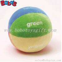 "Wholesale 5.9""Soft Colorful Plush Baby Ball Toy Baby Educational Rattle Toy from china suppliers"
