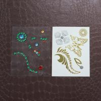 Wholesale Decoration Rhinestone Tattoo Stickers , Self Adhesive Rhinestones For Face from china suppliers