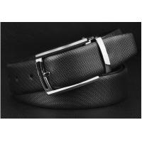 Quality factory direct high quality leather waist belts with clip buckle for business men for sale
