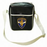 Wholesale PVC Leather Shoulder/Leisure Bag with Two Straps and Front Zipper Pocket, Measures 34 x 25 x 10cm from china suppliers