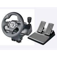Wholesale wired video game steering wheel car gaming racing wheel game controller for PS3, PS2, PC(Direct-X & X-INPUT), dual vibra from china suppliers
