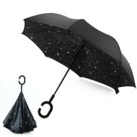 Wholesale New Design Factory Price Star Pattern Inside Print Upside-Down Reverse Umbrella from china suppliers