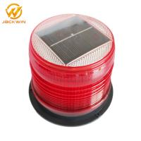 Wholesale Red Amber Flashing Marine Solar Warning Light Magnet Base Waterproof IP68 from china suppliers