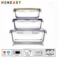 Buy cheap Heat Resistant Rectangular Glass Storage Containers Oven Safe , Pyrex Glass Food Container from wholesalers