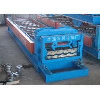 Metal Colored Steel Glazed Tile Roll Forming Machine With 25.4mm Chain