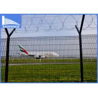 Wholesale Round Post  Pvc Coated Welded Wire Mesh Panels V Bend Stiffeners For Airport from china suppliers