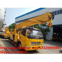 Wholesale 2018s new 16m 4*2 LHD diesel aerial working platform truck for Mali, High quality and best price hydraulic bucket truck from china suppliers