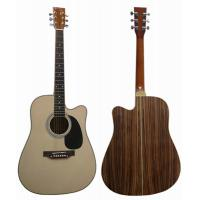 Wholesale Standard Size Special Zebrawood Back Wood Cutaway Acoustic Guitar AF4122C from china suppliers
