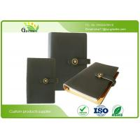 Wholesale Custom PU Wide Ruled Composition Book , Classic Black Ring Binder Notebook from china suppliers
