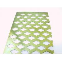 Wholesale Diamond Hole Perforated Metal Sheets,Diamond Perforation Screen,Facade Claddings from china suppliers