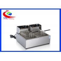 Wholesale Commercial Electric Twin Tank double burner  Industrial Air Fryer/Deep Fryer from china suppliers