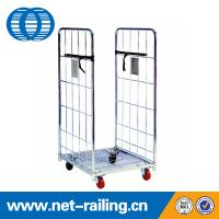 Wholesale Metal Foldable wheeled Supermarket trolley from china suppliers