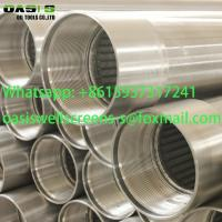 China Continuous Slot Rod Base Wire Wrapped Screens/Johnson Type Wedge Wire Screens on sale