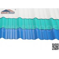 Wholesale Ultraviolet Agent UPVC Corrugated Roofing Sheets With Various Thickness / Length from china suppliers