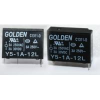 Wholesale GOLDEN 12A PCB Mounted Miniature Relay Y5 JZC-43F Industrial Relays from china suppliers