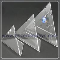 Quality 3X Triangle Acrylic Necklace Pendant Display Stand for sale