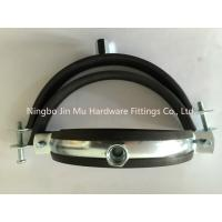 Quality Convenient  Installation Rubber Pipe Clamp 1- 1/2 Inch Size 20 mm / 25 mm Bandwidth for sale