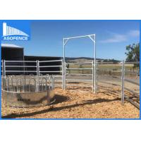 Wholesale Heavy Duty Cattle Yard Panel / High Tensile Horse Fence With Round / Square Rail from china suppliers