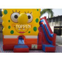 Wholesale 0.55 mm PVC Tarpaulin Inflatable Jumping Castle With Spongebob CE from china suppliers