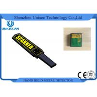 Wholesale Black Small Metal Detector Wand , Security Check Portable Metal Detector Equipment from china suppliers