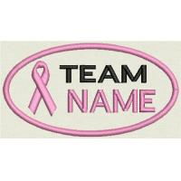 Wholesale Breast Cancer Custom Embroidered Name Tag Patch Sew on Or Iron On from china suppliers