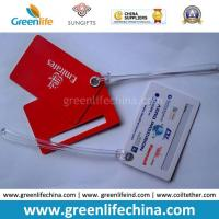 Wholesale Advertising Top Quality Red Logo Printed Custom Plastic Luggage Tag from china suppliers