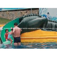Wholesale Kids' Small Water Pool Slides , Fun Water Park Fiberglass Crocodile Slide from china suppliers