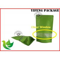 Wholesale Food Grade Kraft Paper Stand Up Pouch With Window , Moisture Proof from china suppliers