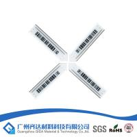 Wholesale Semi-hard Magnetic Anti Theft AM EAS Label Soft Tags , White Barcode 58kHz from china suppliers