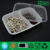Buy cheap Two Compartments Divided Disposable PP Food Container / PlasticTableware from wholesalers