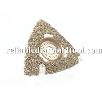 "Wholesale 3"" Diamond Oscillating Blade Brazed Carbide Rasp Triangluar Vacuum Brazed Diamond Blades from china suppliers"