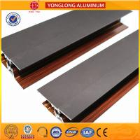 Buy cheap WOODEN FINISH Aluminum Window Extrusion Profiles For Sliding Window from wholesalers