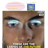Quality Colour interactive Changing LED false Eyelashes For dance for sale