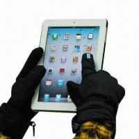Wholesale Touch Screen Ski Gloves with Cotton Padding, Various Sizes are Available from china suppliers