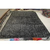 Wholesale OEM Carbonized Black Polyester Shaggy Pile Rug, Soft Pile Modern Carpet Rugs from china suppliers