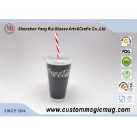 Wholesale Double Layer Sporting Plastic Straw Cup , 16 oz Color Changing Mugs Custom from china suppliers