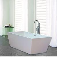 Wholesale Narrow Edge Portable Acrylic Freestanding Bathtub With End Drain Lightweight from china suppliers