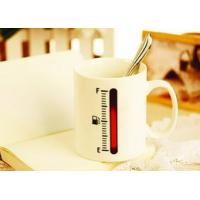 Quality the change colors mug The ceramic  thermometer magic  cup for sale