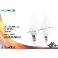 Wholesale 5W E14 led Candle Lights 420 - 450 lm 270 Degree 4700 - 6700K from china suppliers