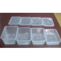 Wholesale Injection Rectangular Disposable Plastic Food Containers , PP Food Trays from china suppliers