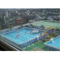 Wholesale Outdoor Square Metal Frame Pool , Metal Frame Swimming Pool For Rental from china suppliers