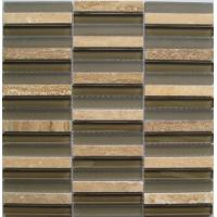 Wholesale Strip Mixed Crystal Glass Stone Mosaic Tile For Exterior Decoration from china suppliers